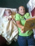 Aunty Anna reading to Ashea