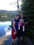 First family hike up to the highest elevation trout pond in Vermont