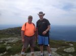 My father-in-law and I on the summit of the tallest peak in Vermont, Mt Mansfield
