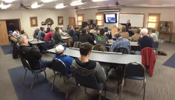 The first men's large group meeting.  Myself and 6 other men are helping to facilitate men's ministry on campus.